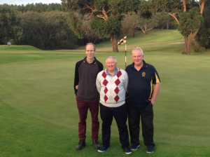 The Three Champions for 2015. Scott Packer B Grade Champion, Club and Senior Champion Terry Chant and C Grade Champion Glen Tilley